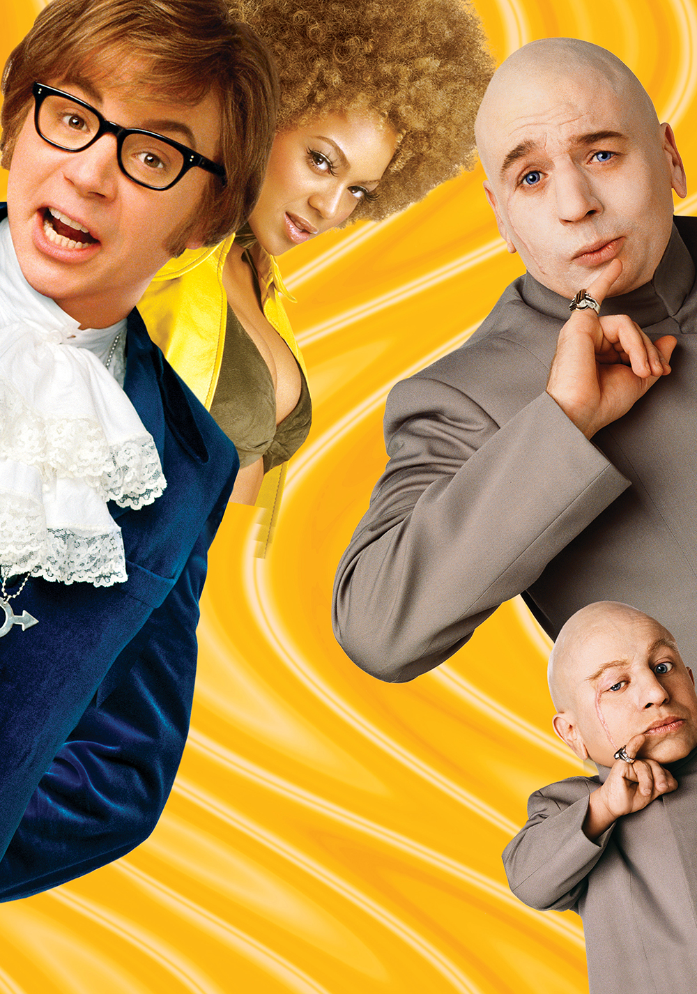 Mike myers austin powers in goldmember mini-me dr. Evil felicity.