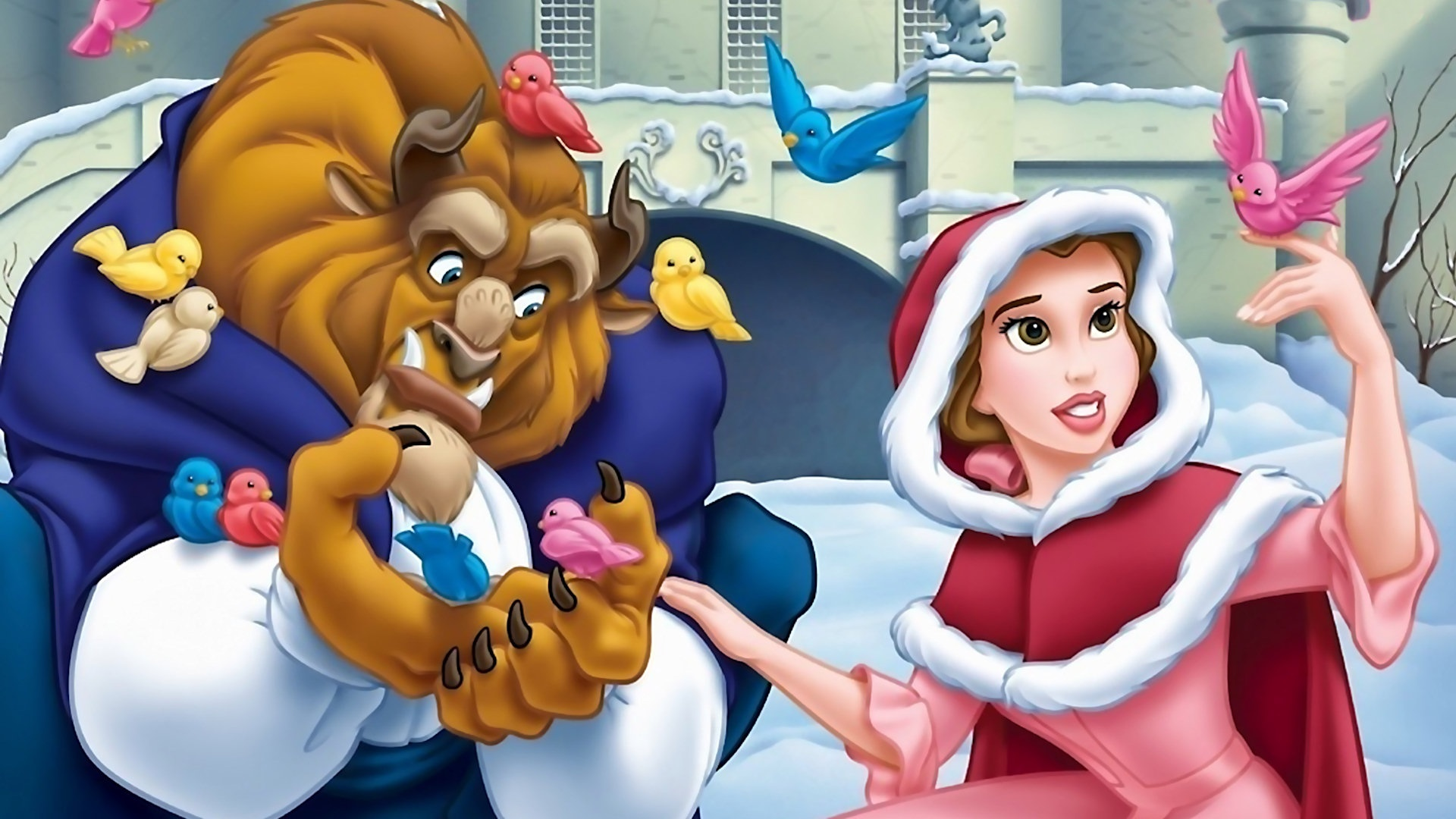 Beauty And The Beast Christmas.Beauty And The Beast The Enchanted Christmas Movie Fanart