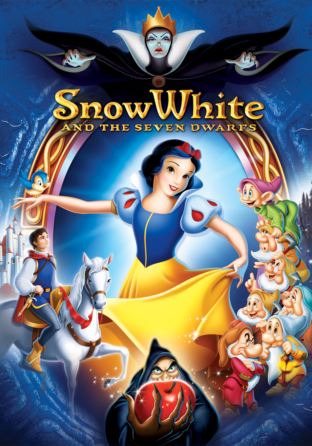 Image result for snow white and the seven dwarfs movie poster 1937