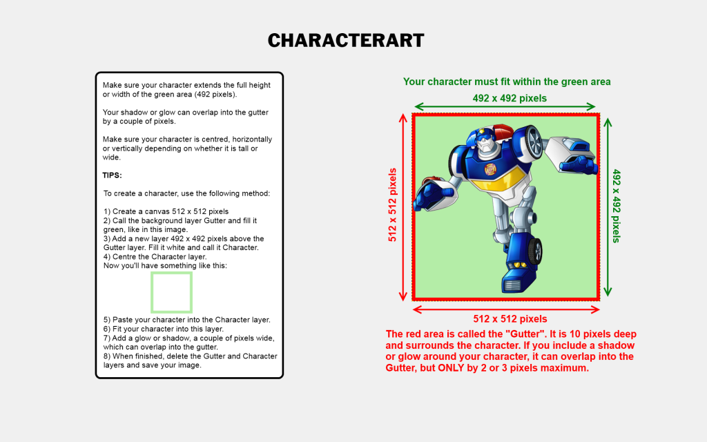 CharacterArt Guidelines
